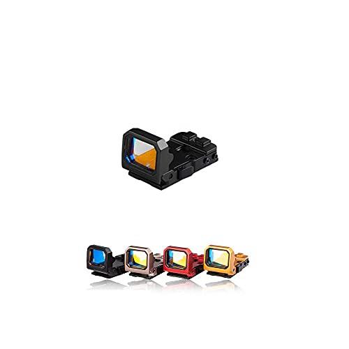Qiulan- Red Dot Compact RMR Flip Red Dot Reflex Sight Compact Reflex Sight for Glock Mounts and Slides (Black)