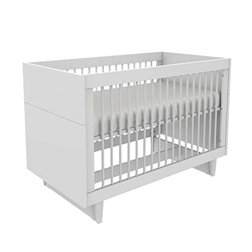 Little Guy Comfort Fino Children's 3-in-1 Crib and Youth Toddler Bed Conversion Kit, Large, White