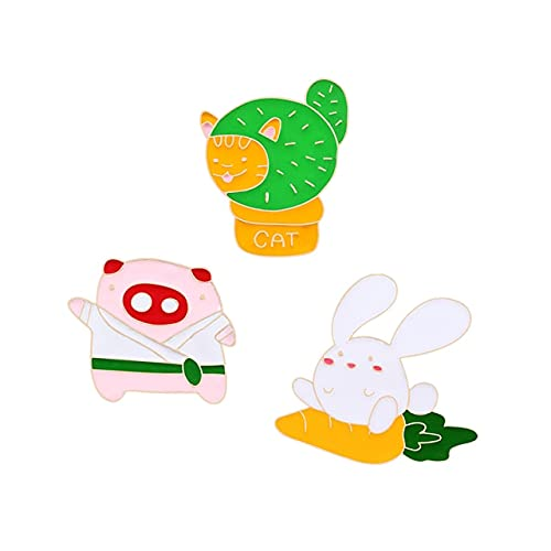 FMY Cartoon-Emaille-Anstecker, Kaktus-Pflanze, Totenkopf, Skelett, individuelle Brosche, Mini-Becher, Kaninchen, Anstecknadel, Punk-Schmuck