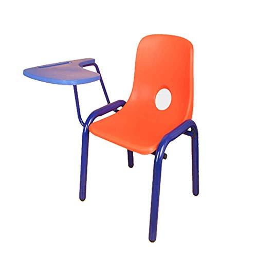 NBVCX Mechanische Teile Student Kindertrainingsstuhl Kindergarten Early Education Tisch und Stühle mit starkem Metallrahmen für Büro und Rückenlehne Stuhl mit Handed Flip Up Tablet
