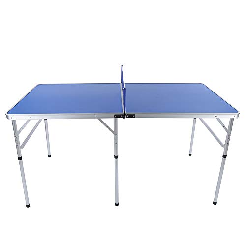 Mesa Ping Pong Plegable, Mesa de Ping-Pong Profesional, Raquetas y Pelotas Incluidas, 152 x 76 x 76 cm