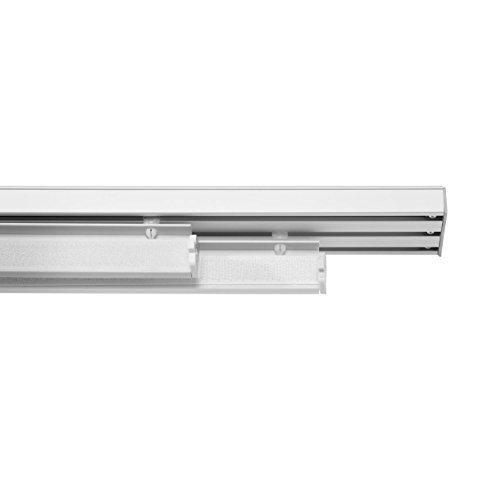Lichtblick FLV.PAN.01 Paneelwagen für Flächenvorhang, 60 cm, mit Klettband und Beschwerung Weiß