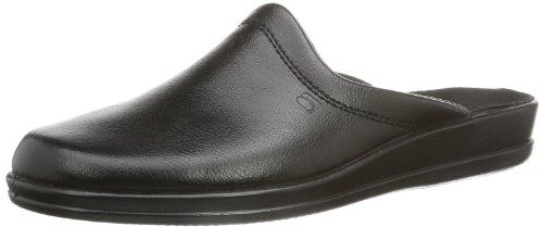 Rohde Lekeberg - Zapatillas de casa de Cuero Hombre, Color Negro, Talla 41