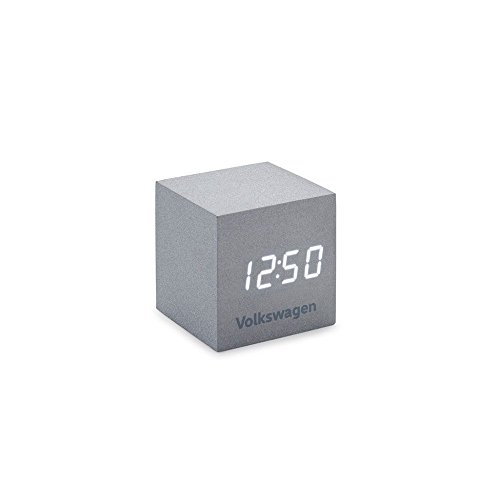 Volkswagen 33D050811 wekker kubusvorm zilver LED-display klok