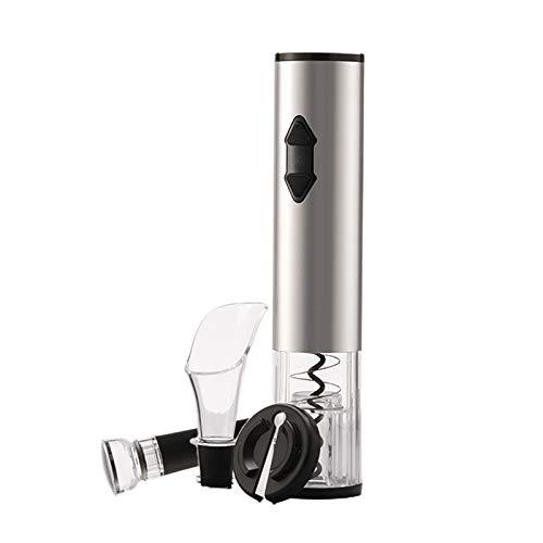 TISHITA Sacacorchos eléctrico para botellas de vino, con cortador y vertedor de vino