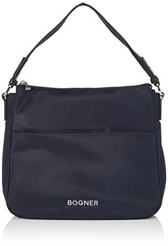 Bogner Women Damen Tasche Klosters Isalie Hobo aus Nylon,Blau (Darkblue),13x28x31 cm (W x H x L)