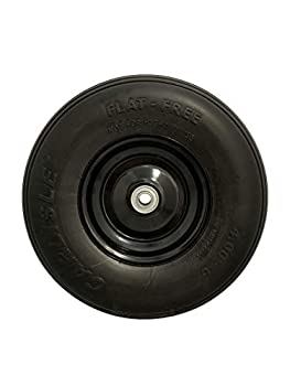 Marathon 00296 Easy Fit 4.00-6 Flat-Free Wheel Assembly for Residential Wheelbarrow Black