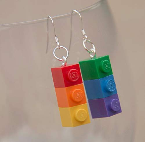 Rainbow Pride Earrings Jewelry STERLING SILVER Hooks Gay & Lesbian Pride LBGT Gift Handmade Earrings Rainbow Flag
