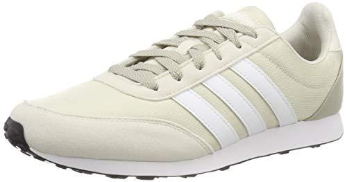 adidas Herren V Racer 2.0 Laufschuhe, Raw White/FTWR White/Sesame Raw White/FTWR White/Sesame, 44 EU