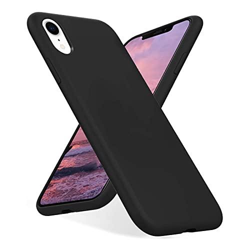 Funda Compatible con iPhone XR, TPU Ultra Delgado Silicona Carcasa, Antideslizante y Anticaídas Case Cover, Fina Negro Mate Funda para iPhone XR - Negro