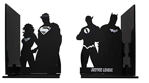 DC Comics Justice League Superhero Silhouette Bookends