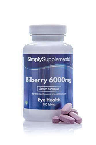 Heidelbeere Plus Extrakt 6000mg - Geeignet für Veganer - 180 Tabletten - SimplySupplements