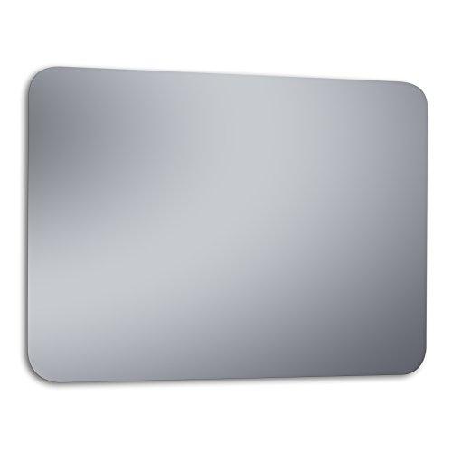 """Kristaled Romo """"L"""" 120x80 cm (Colgador Especial focos Pinza) Espejo Colgar en Vertical y Horizontal, Cristal, Plateado, 120x80x2.5 cm"""