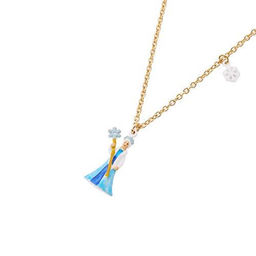 MKHDD Frauen Niedlichen Cartoon Rotkäppchen Charme Anhänger Halsketten Emaille Gold Kette Halskette Schmuck Geschenke,D