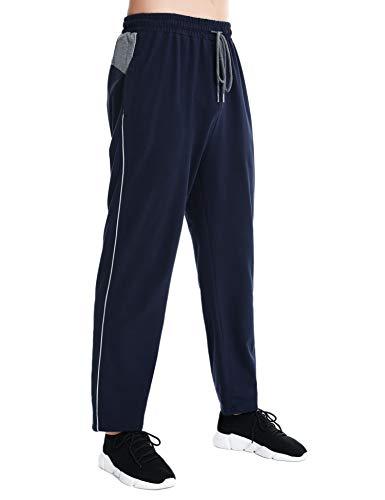 Doaraha Pantalones Deportivos para Hombre Pantalón Chándal Hombres Pantalón Largo de Entrenamiento Men Training Pant Core Fitness Jogger Correr Deportes (Azul Marino, M)