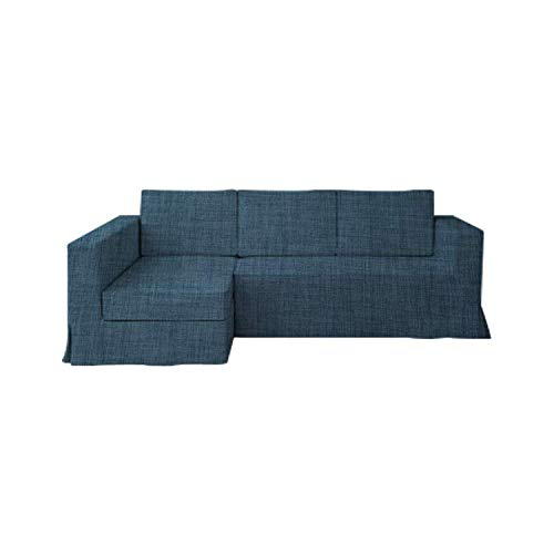 SC - Copridivano Manstad in poliestere per divano a 3 posti Ikea Manstad e copridivano sezionale per divano letto (non incluso), Poliestere, Blu navy, taglia L., chaise lounge on Left 03