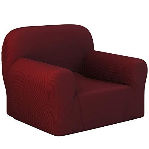 Dreamzie - Fundas Sofa Elasticas 1 Plaza - 60% Algodón Reciclado - Certificada Oeko-Tex® sin Productos Químicos - Fabricada en España - Rojo