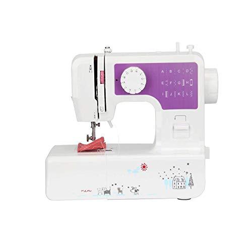 Z-COLOR Máquina de coser del hogar, portátil y de costura de la herramienta eléctrica de múltiples funciones con overlock Extensión de mesa for principiantes Inicio de costura hacer a mano DIY de cose