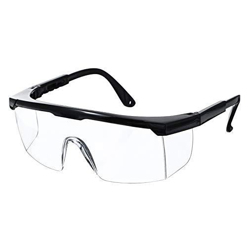 NASUM Schutzbrillen Vollsichtbrillen Schutzbrille Arbeitsschutzbrille gegen Spritzer,Verstellbare Bügel und Faltbar,UV-Schutz,Hohe Schlagfestigkeit, 1St