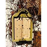 Schwegler Naturschutzprodukt Hornissenhaus für solitär lebende Hornissen Nest Hornissenkasten aus Holzbeton Höhe 33 cm