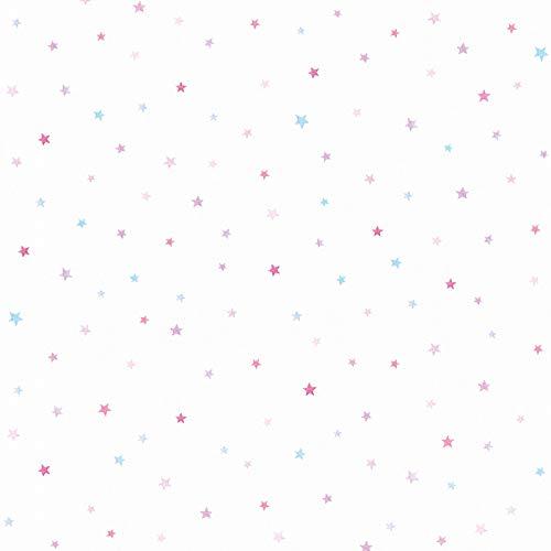 Papiertapete Tapete Sterne Tapete Kinderzimmer Esprit-Tapeten 356943 35694-3 Esprit HOME Esprit Kids 5   Blau Violett/Lila Weiß   Rolle (10,05 x 0,53 m) = 5,33 m²