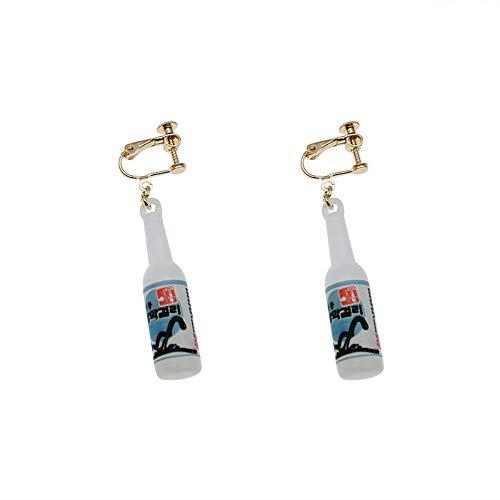 Ohrringe Sex Bier Flasche Ohrringe Ohrringe Spaß Kreative Durchbohrte Ohrclips, A