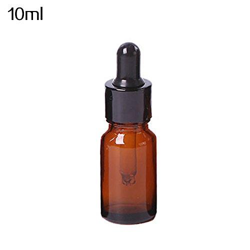 jiyoujianzhu Mini Bernstein Glas Liquid Flasche Eye Dropper leere Flasche, einfarbig, 15ml