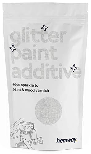 Hemway Glitzerlackzusatz Mischfarben auf Wasserbasis für Wand Decke - 100g - Diamantweiß