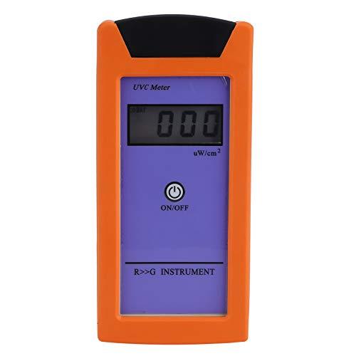 RGM-UVC Pantalla LCD Medidor de luz para reptiles Probador de iluminancia de radiación ultravioleta Medición de luminosidad Equipo fotosensible UV 6.5x3.0x1.2in
