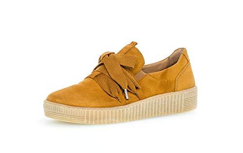 Gabor Damen Sneaker, Frauen Low-Top Sneaker,Best Fitting,Optifit- Wechselfußbett, Women's Woman Halbschuhe Sportschuhe,Curry (Natur),38.5 EU / 5.5 UK