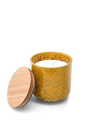 ISHI - 100% umweltfreundliche Duftkerzen - Sandelholz - Natürliche Sojawachs Kerze - Brenndauer bis zu 45 Stunden - Perfekt für Jubiläum, Geburtstagsgeschenk - 285 g