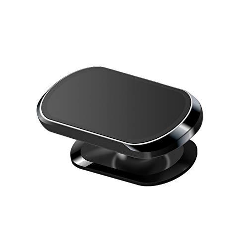 Soporte magnético de 360 ° para teléfono para automóvil, Tablero de Instrumentos con Forma de Mini Tira, para teléfonos celulares y Mini tabletas, Extra Fuerte con 8 imanes. (Negro)