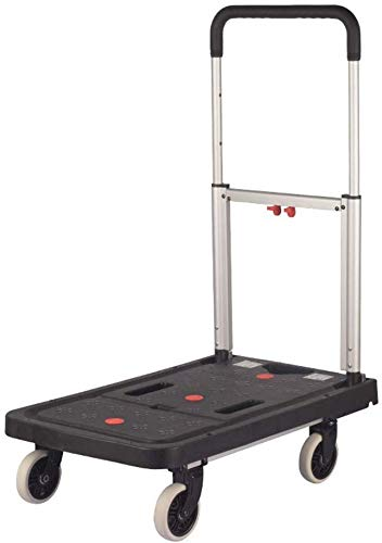 Find Bargain GBX Multifunction Portable Hand Trucks,Shopping Trolleys Portable Hand Truck Aluminum Folding Wheel Hand Cart Lightweight Dolly with Collapsible Detachable Box, Black,Style 1