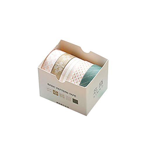 Eudola Grundlegende Grafik-Serie Klebeband Washi Tape Japanisches Klebeband Multifunktions DIY Dekorative Klebeband Klebeband Geschenk für Student und Tagebuch Schreiben Enthusiasten - Kiefernzweig