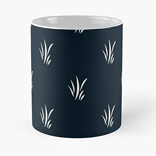 Leaf Beautiful Plants Leaves Botanical Simple Navyblue Minimal Best Taza de café de cerámica de 11 oz
