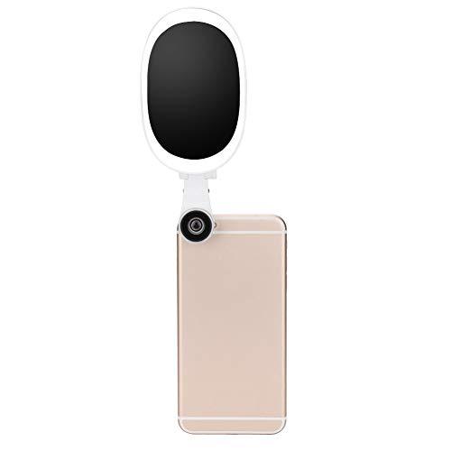 Telefoon Selfie Light, 60 Light Bead Selfie Clip Lamp Portable HD Groothoek Verstelbare LED Ring Light met Lens voor Makeup, Selfie