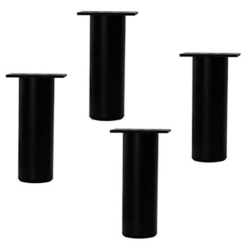 WYBW Patas de soporte para muebles, Patas de muebles, Patas de sofá ajustables de bricolaje, Patas de gabinete de metal, Elevador de muebles redondo, Accesorios de cocina y baño (4 piezas),Negro,12 c