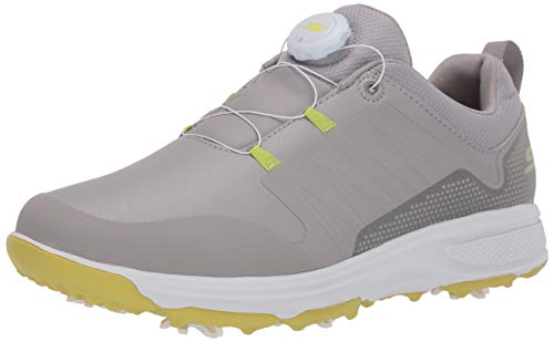 Skechers Men's Torque Twist Waterproof Golf Shoe, Gray/Lime, 11 W US