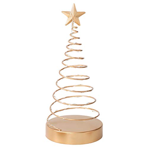 FUNZZY Christmas Tree Spiral Light Ornament Beautiful Desktop Adornment Photo Props Xmas Party Decorations