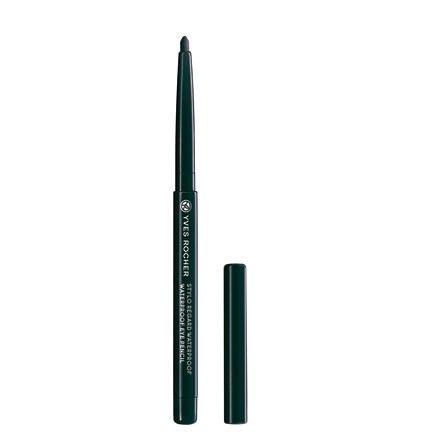 Yves Rocher COULEURS NATURE wasserfester Augenkonturen-Stift Noir, Eyeliner Drehstift, waterproof in Schwarz, 1 x Stift 0,3 g