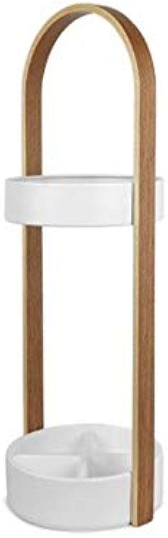 YANGBM Umbrella Stand European Style Storage Bucket Umbrella Stand Office Wooden Umbrella Bucket   68.6cm × 22.2cm Umbrella Stand (color   White)