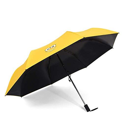 Paraguas del sol plegable para las mujeres Paraguas plegables parasol compacto con 99% de protección UV impermeable impermeable a prueba de viento mango a prueba de deslizamiento paraguas de viaje imp