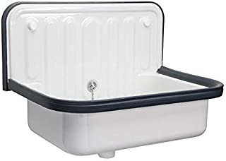AP Wall Mounted Small Service Sink Glazed Steel Utility