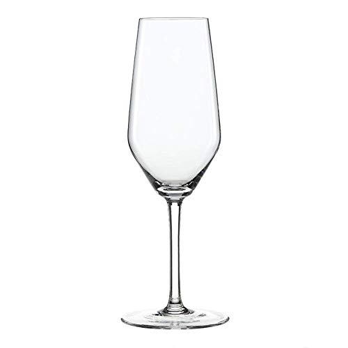 Spiegelau & Nachtmann, 4-teiliges Champagnerflöten-Set, Kristallglas, 240 ml, Style, 4670187