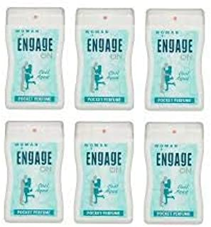 ENGAGE ON COOL AQUA POCKET PERFUME PACK OF 6 COMBO FOR WOMEN COMBO