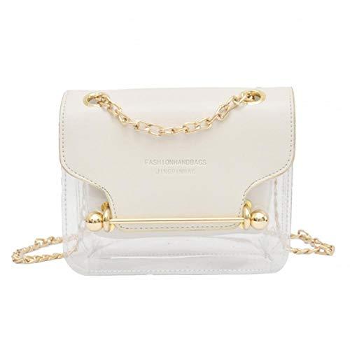 coil.c Damen Transparente Handtasche Gelee Crossbody Tasche für Damen, PVC transparenter, Tragbare kosmetische Handtasche wasserdichte Schulter Kuriertasche für Lady Girl