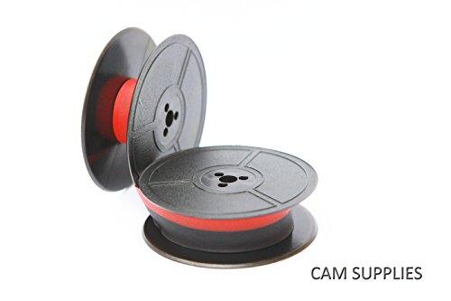 Farbband schwarz-rot für DIN 32755, 53mm Durchmesser Doppelspule, DIN 32 755 kompatibel Marke Faxland