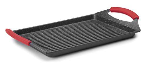 Lacor 24134-Plancha Grill Eco Piedra 33 x 25 cm-Negro, Aluminio, 34 cm