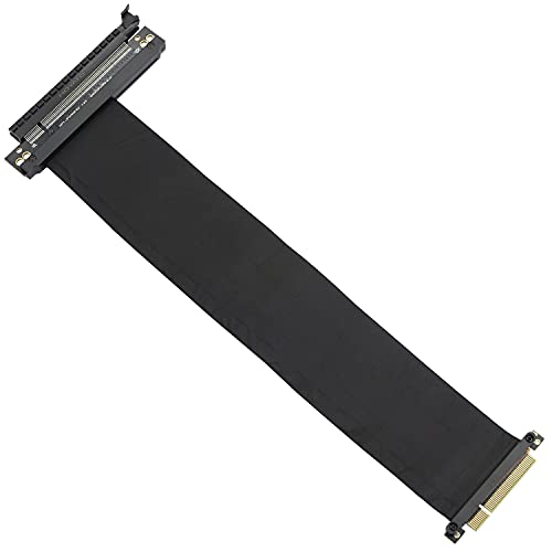 GELRHONR PCI-E 3.0 Gaming PC Modding X16 Riser Câble Flexible, PCI Express 8X à 16x Slot Riser Rallonge Câble-Noir 13in