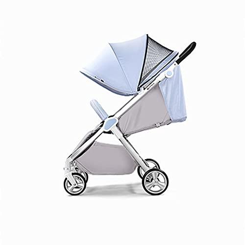 Tokujn Cochecito de paraguas para bebés ligero, cochecito de viaje para bebés plegable con correa de transporte, reclinación de 4 posiciones, respaldo ajustable, UV Canasgo de...